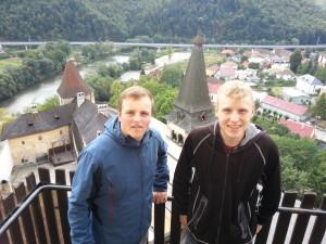 Benny und Chris auf der Burg Orava