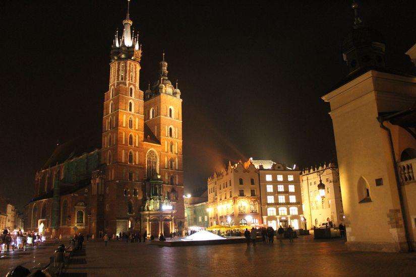 Nachtleben in Krakau