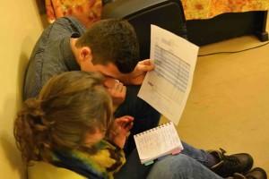 Moderationsvorbereitung beim Klub E