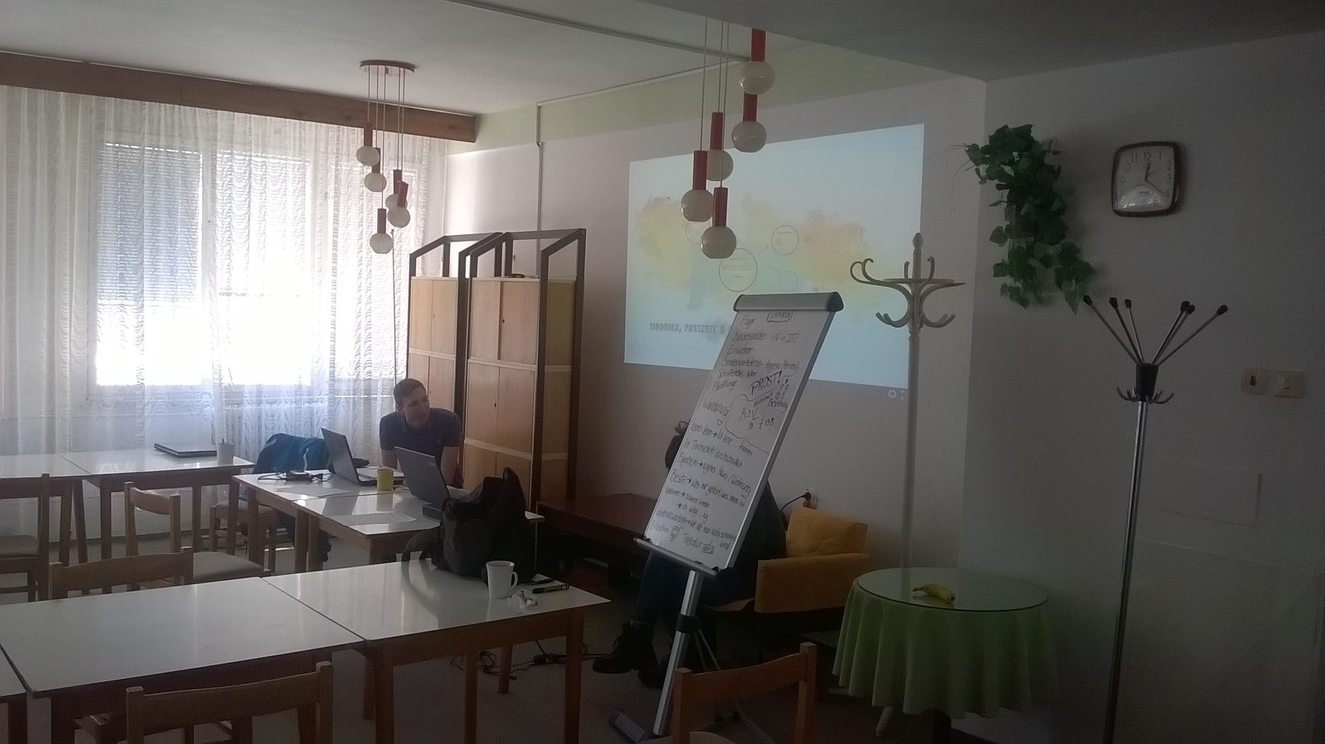Unser Klassenzimmer beim einwöchigen Deutschkurs