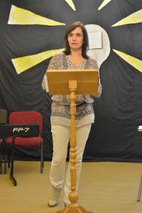 Die eigentliche Rede hielt aber Olinka, Gastrednerin aus Dolny Kubin.