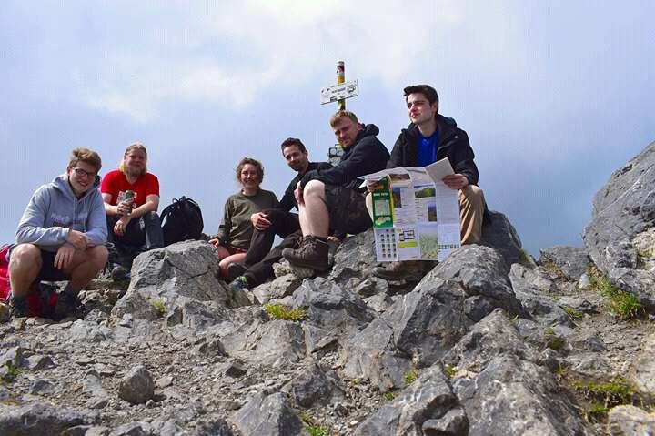 Der erste große Gipfel ist geschafft (Veľký Krivaň)