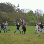 Zusammen mit der Jugend der FeG-Lüneburg beim Ultimate Frisbee